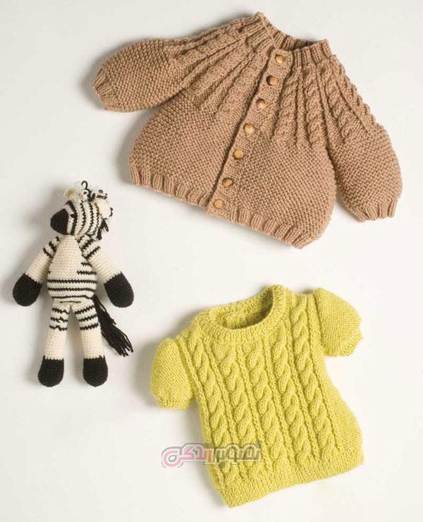 ژاکت دست باف بچگانه - لباس بافتنی - لباس بچگانه زمستانی