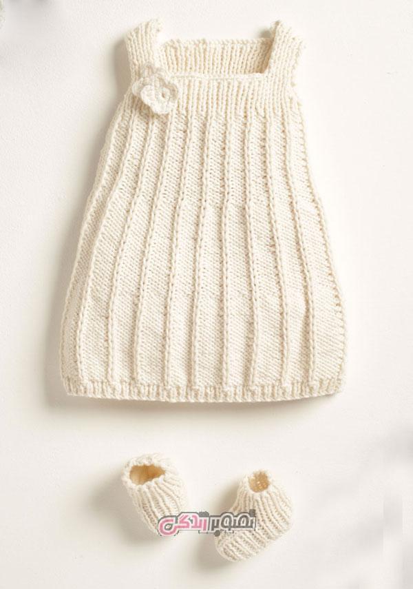 ست لباس بافتنی بچگانه - ست نوزاد دستباف