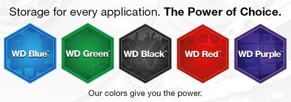 تفاوت رنگ هارد دیسک های شرکت Western Digital