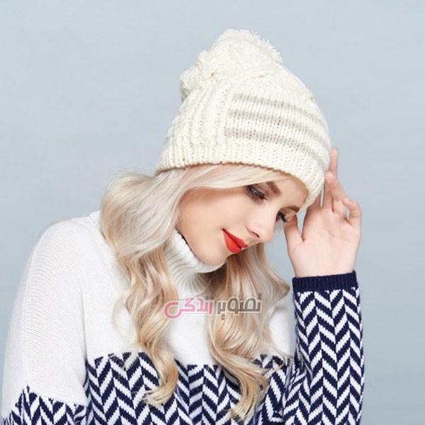 مدل کلاه دستباف زنانه , کلاه زنانه بافتنی