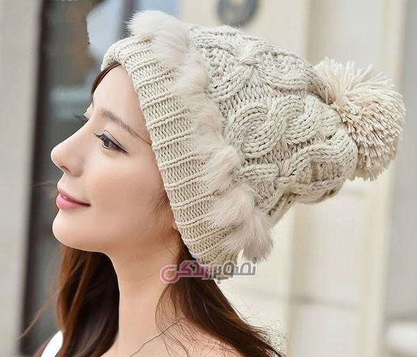 مدل کلاه بافتنی زنانه - کلاه دستباف زنانه