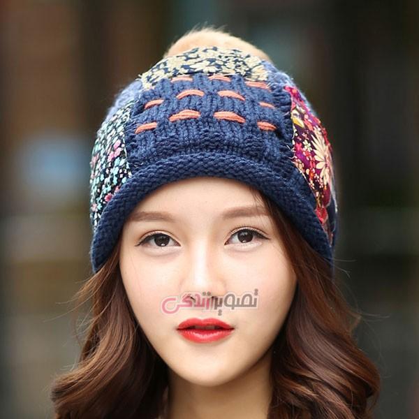 مدل کلاه بافتنی زنانه , کلاه زنانه بافتنی