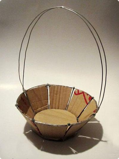 کاردستی کنفی , آموزش تصویری ساخت سبد با کنف