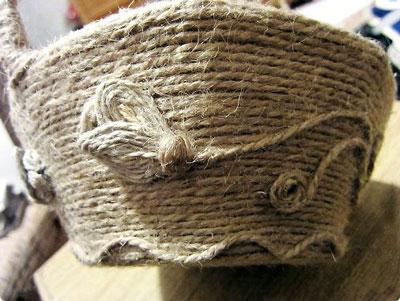آموزش هنرهای دستی  , آموزش ساخت سبد کنفی بسیار زیبا
