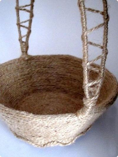 کاردستی های کنفی , ساخت سبد با کنف