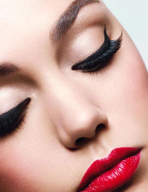 آرایش با رژلب قرمز , میکاپ , مدل جدید آرایش