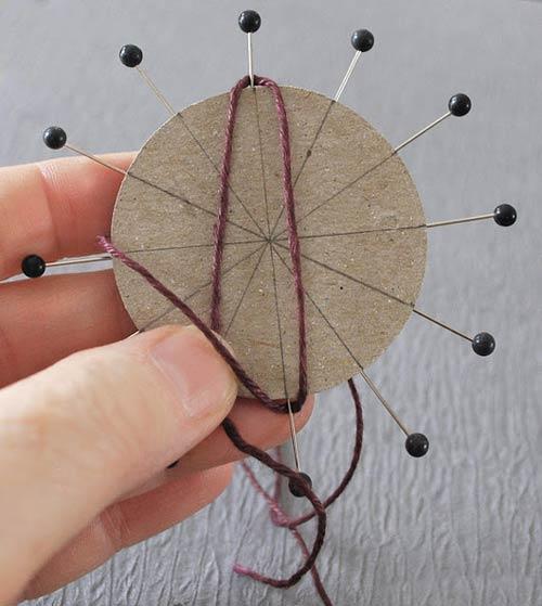 آموزش ساخت موتیف گل با نخ کنفی