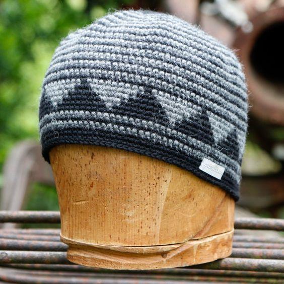 کلاه نقش دار بافتنی با قلاب