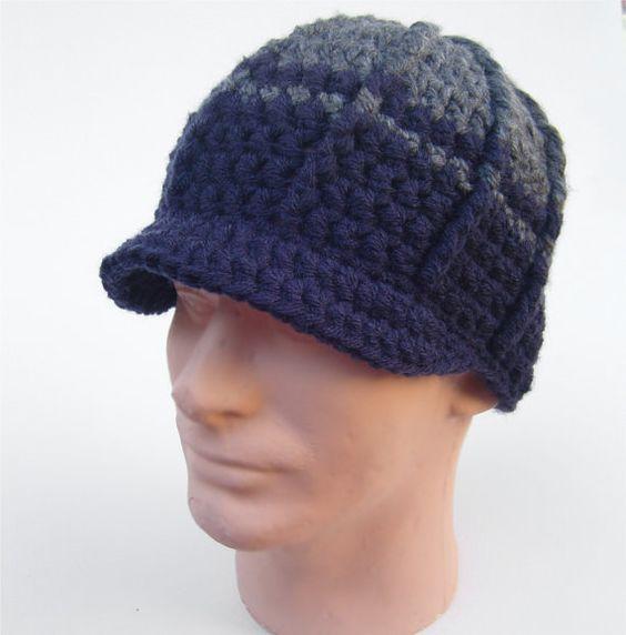 کلاه قلاب بافی نقاب دار لبه دار