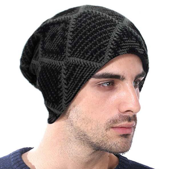 کلاه مردانه بافتنی دو میل