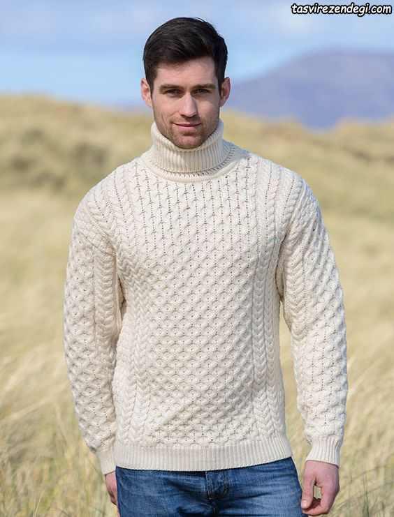 بلوز دستباف مردانه سفید