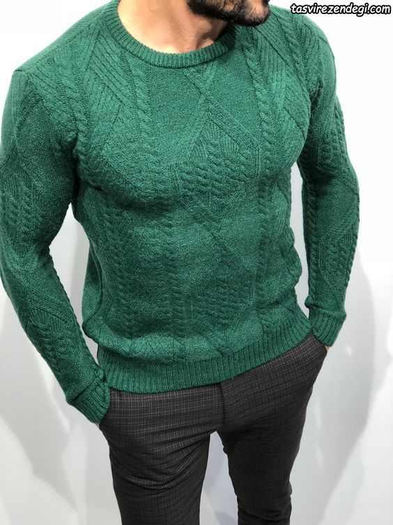 بلوز دستباف مردانه سبز