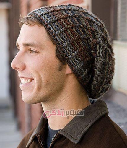 مدل کلاه بافتنی مردانه - مدل کلاه مردانه دستباف