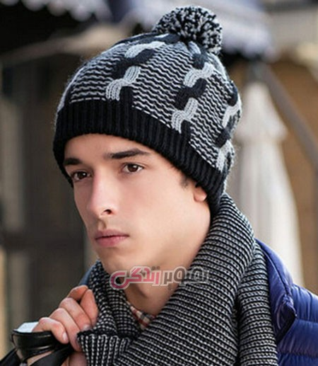 مدل کلاه مردانه بافتنی - مدل کلاه دستباف مردانه
