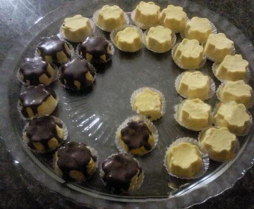 نان، شیرینی، دسر  , طرز تهیه پشمک قالبی شکلاتی