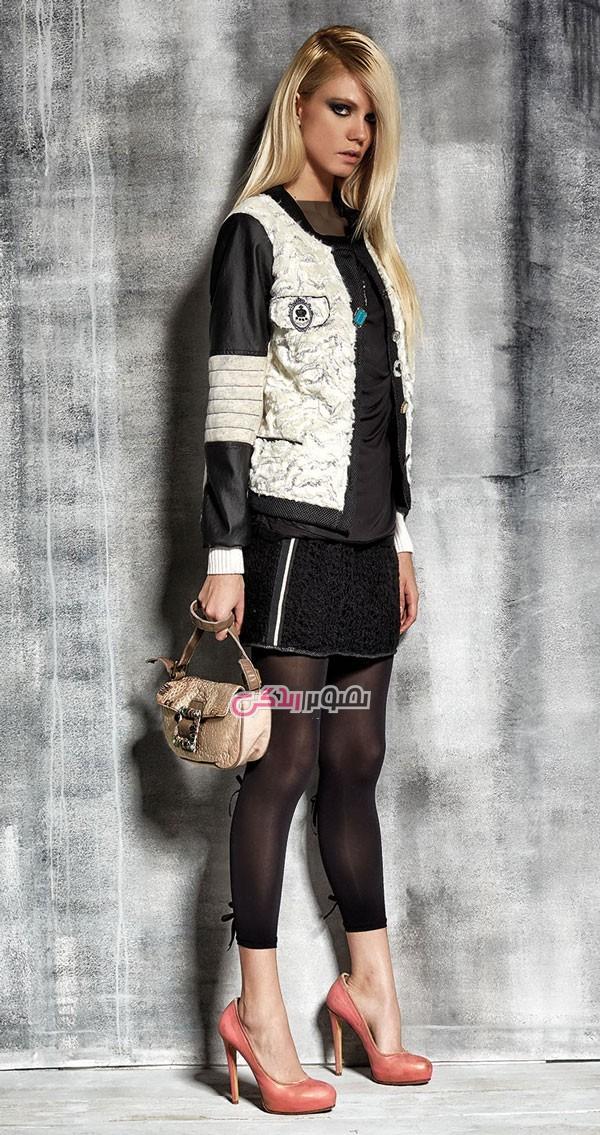 مدل لباس پاییزی دخترانه , مدل ژاکت زنانه , مدل دامن