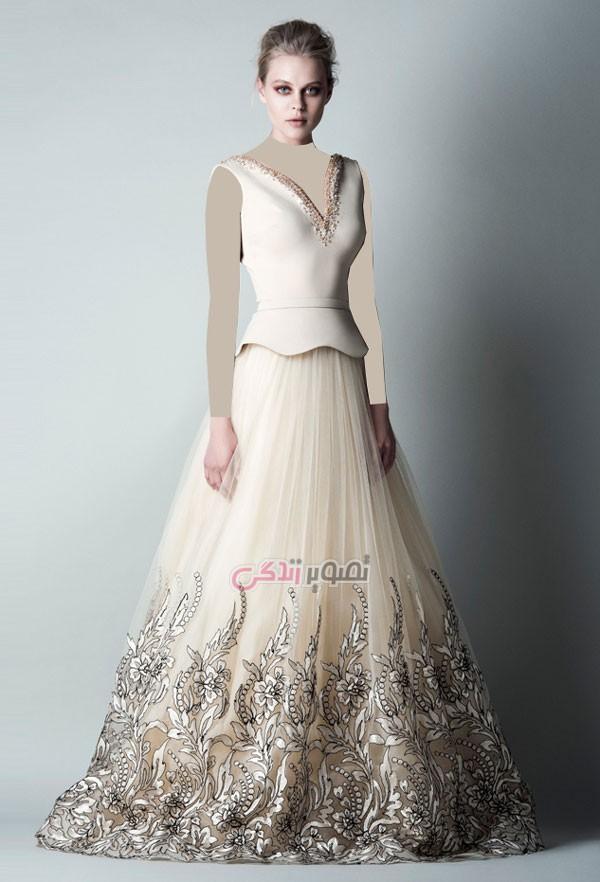 مدل لباس مجلسی, پیراهن بلند مجلسی ,لباس نامزدی