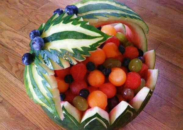 میوه آرایی - شب یلدا - تزیین میوه شب یلدا - سفره یلدا