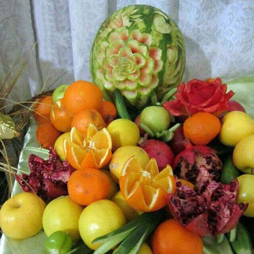 میوه آرایی - شب چله - تزیین میوه شب چله - سفره یلدا