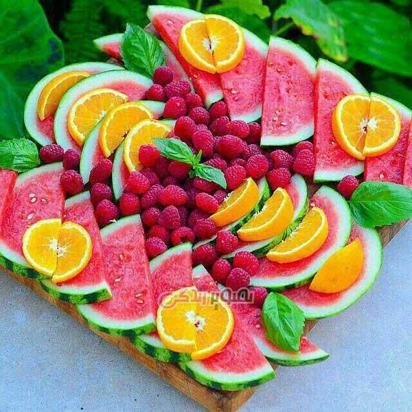 میوه آرایی ,تزیین میوه شب یلدا , تزیین سفره شب چله