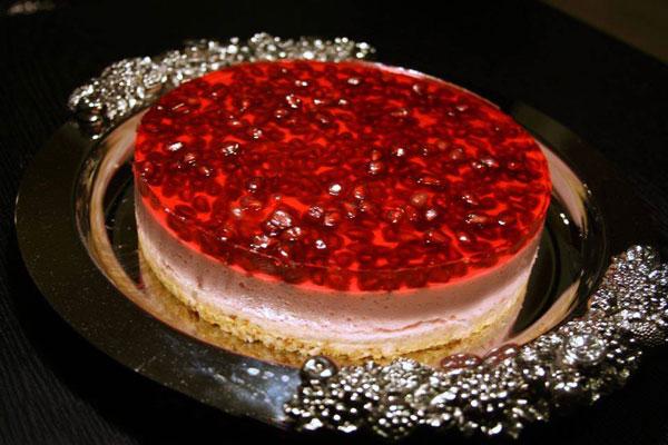 نان، شیرینی، دسر  , چیز کیک انار یخچالی دسر ویژه شب یلدا