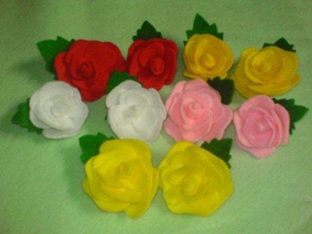 آموزش تصویری ساخت گل رز تزیینی با فوتر