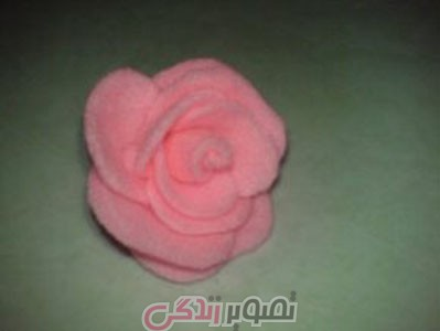 ساخت گل رز با فوتر ,  گل رز نمدی