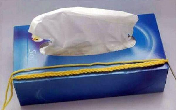 آموزش هنرهای دستی  , بافت روکش جعبه دستمال کاغذی با قلاب