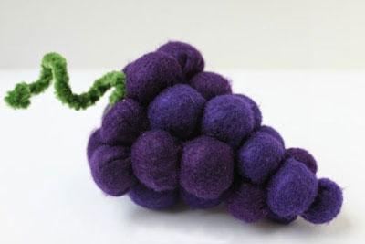 آموزش ساخت خوشه انگور با نمدی - آموزش نمد دوزی