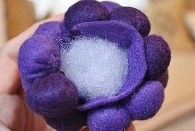 آموزش ساخت خوشه انگور نمد - آموزش نمد دوزی