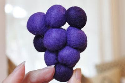 آموزش ساخت خوشه انگور با نمد - آموزش نمد دوزی