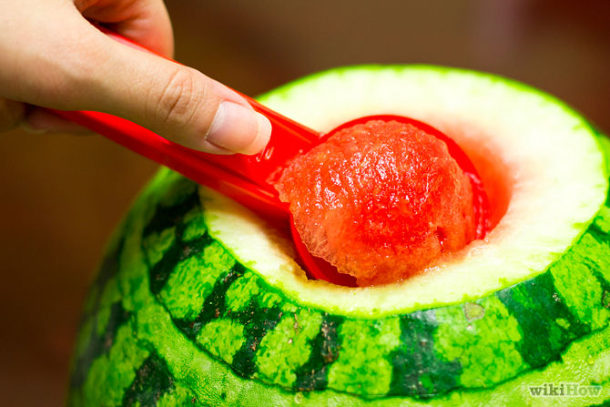 سفره آرایی  , درست کردن ظرف نوشیدنی با هندوانه / سرو نوشیدنی