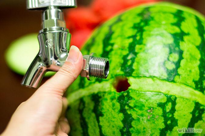 درست کردن ظرف نوشیدنی با هندوانه
