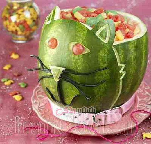 تزئین هندوانه , میوه آرایی , شب یلدا