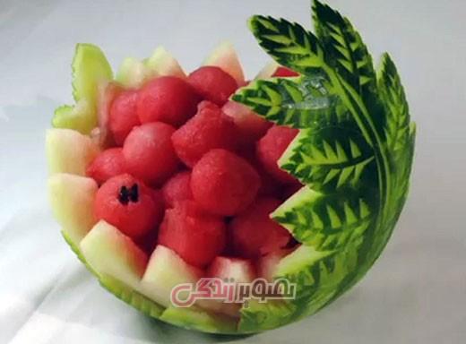 تزیین هندوانه , میوه آرایی شب یلدا , شب چله