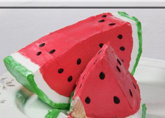 طرز تهیه کیک هندوانه ای - شیرینی شب یلدا