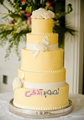 مدل تزیین کیک عروسی شیک جدید + ۵۰ عکس کیک عروسی