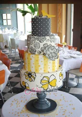 عکس تزیین کیک عروسی , مدل کیک عروسی ,کیک عروسی 2016
