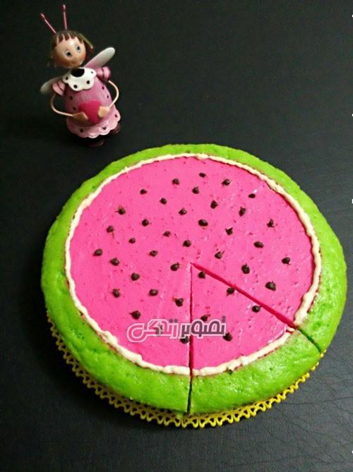 طرز تهیه چیز کیک هندوانه ای
