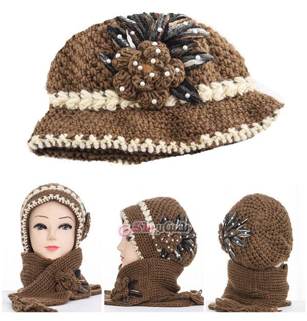 مدل شال و کلاه بافتنی زنانه