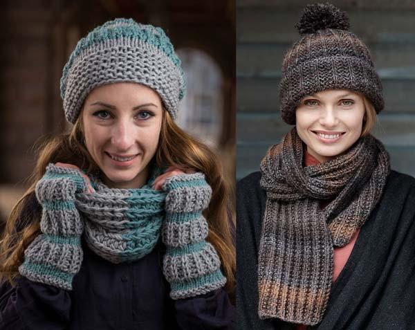 دو مدل شال و کلاه بافتنی زنانه