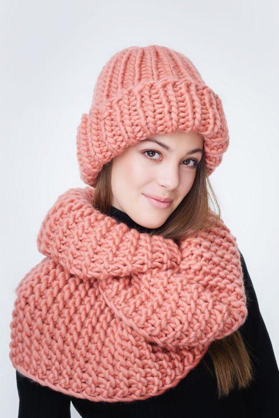 عکس مدل شال و کلاه زنانه گلبهی