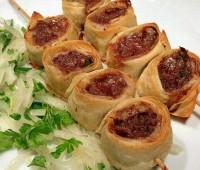 کباب ضیافتی با خمیر یوفکا