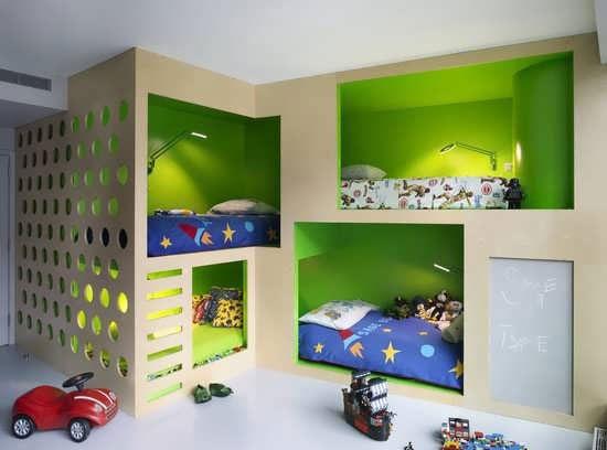 مدل دکوراسیون اتاق پسر بچه سال 2016 , مدل تخت خواب چند طبقه