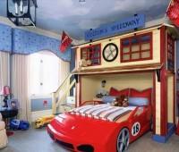 مدل دکوراسیون اتاق بچه 2016, مدل تخت خواب طرح ماشین