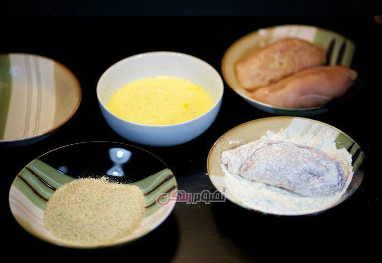 طرز تهیه چیکن کیو , مرغ سوخاری , رول مرغ