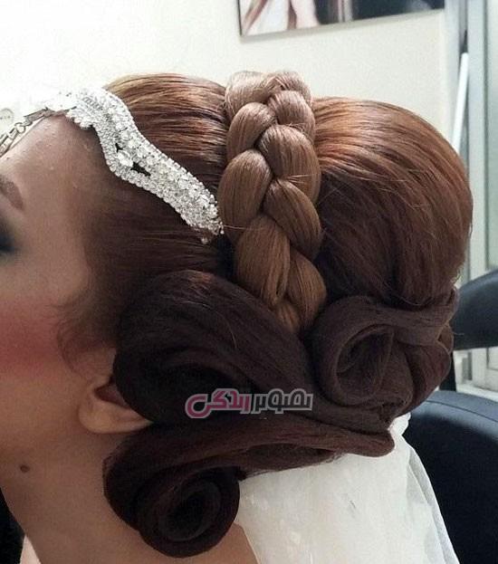 مدل و آرایش مو  , مدل شینیون مو با تور  - سری دوم