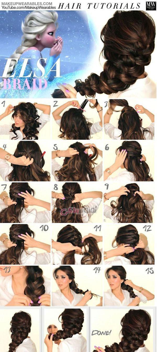 آموزش بافت مو دخترانه 2016