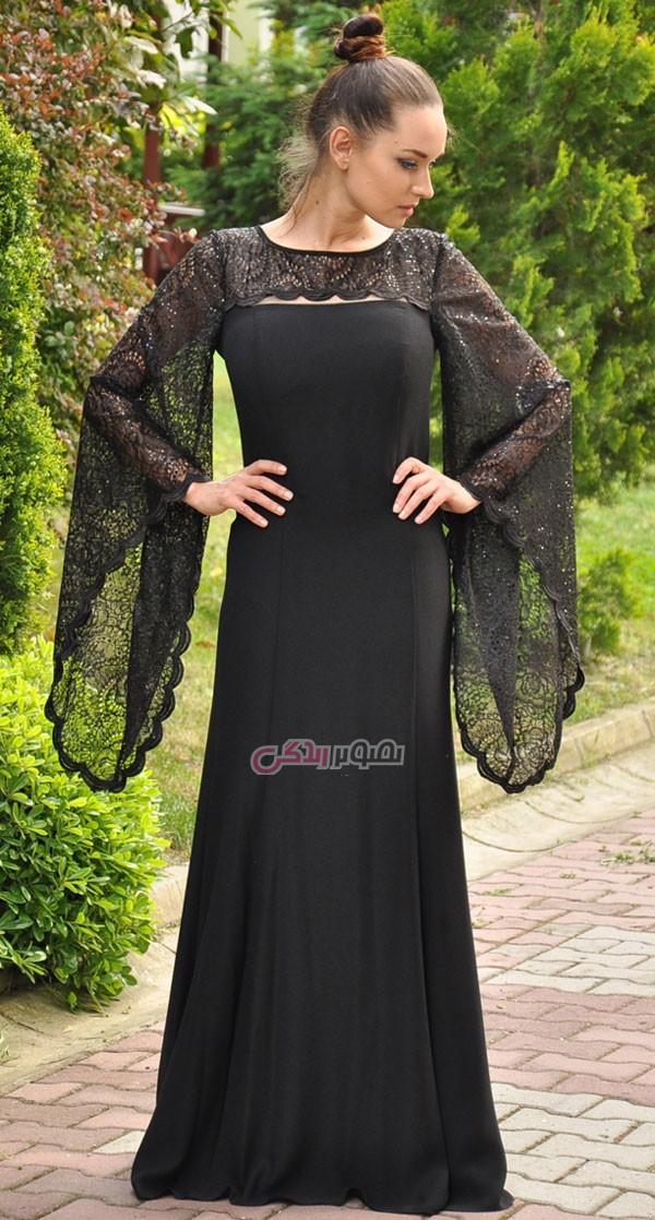 مدل لباس زنانه  , مدل لباس مجلسی ترک 2016 / لباس مجلسی پوشیده