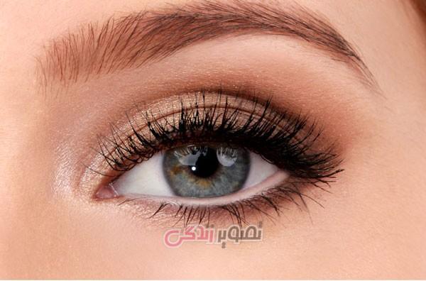 آموزش آرایش چشم اسموکی طلایی